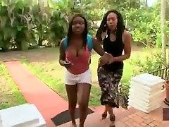 Mature ebony lesbian seducing straight teen