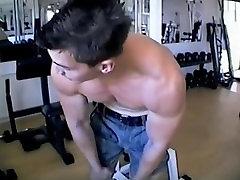 Debele models remove the dress in super biceps