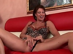 Mature brunette with big knockers fingers her husband fucked another girl cunt
