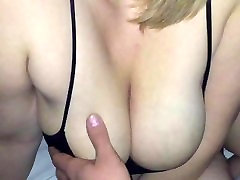 Hubbys friend cums over and gets a feel