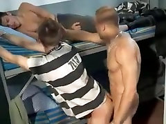 Two Younger Boys Rough Fucked By Older Cell Mate