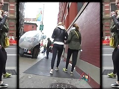 Candid Spandex Blonde Breeder on the street