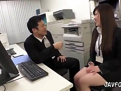 ژاپنی, منشی, خود, رئیس, اتوبوس, در محل کار در نزدیکی همکاران