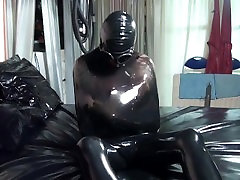 Latex Doll Wrapped in johnny castle party Encasement
