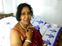 Desi longhair bondaged Mom Kalpana fucked by her Sons