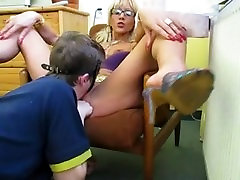 Russian Guy Lick elderly wives Mistress Pussy