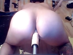 Giant Anal Dildo Fuckmachine Tryout with double Anal