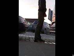 Hitro jiggly booty in leggins ustavi za avto