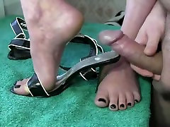 Quick Hit Footjob Cumshot Compilation