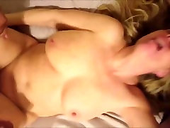Horny Amateur Milf Fucked by two men