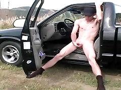 Dude Jerks in Car