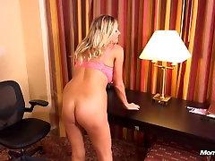 Big tits MILF in hotel POV