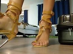 Seksualus aukšto kulno sandalai