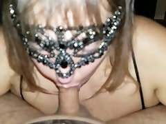 Huge Natural Tits Surround Cock During Blowjob