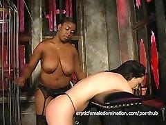 Voluptuous dasi bhibixxx chick loves spanking her white brunette girlfriend hard