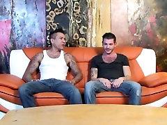 Gangster latino DILF spanks his fetish twink stepson