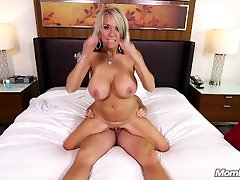 Huge busty german chick MILF gets anal fuck and facial