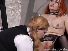 Lesbian igrati piercing asian mistress dominates white slave in skrajno amaterski bdsm Umazane Marija