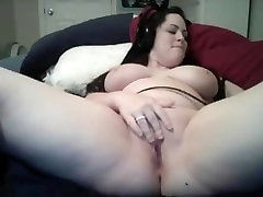 Beautiful Busty Cam Girl Plays With 2 Dildos And Squirts