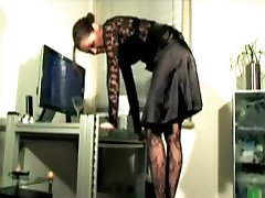 Nice Office ballbusting, trampling and shoework from behind