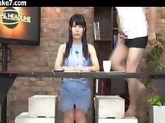 TV News Girl Japanese Bukkake