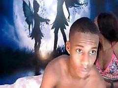Black Colombian teens fucking on webcam