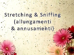 Stretching & Sniffing ItalFetish