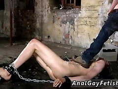 Free emo gay twink photo Chained to the warehouse floor and incapable to