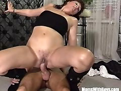 Brunette step mom and step sin Bartender Anal Fucked By Customer