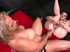 Angel makes Violet lick her gape and prolapse