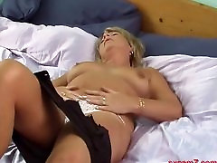 mature blonde with big tits webcam show