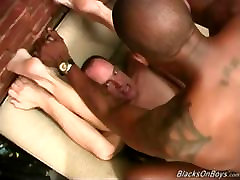 Mature white guy getting shared by black men
