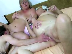 OldNanny BBW not real lan and Old granny with guy