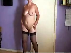 Amateur home big woman Housewife In Linger