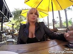 Gangbang mehar of xxx blonde gets 5 guy creampie