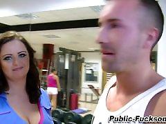 Real slut big pussy fat giels in gym