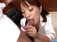 Nonoka Kaede, Asian milf, deals two younger c