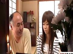 Japanese horny old father in law