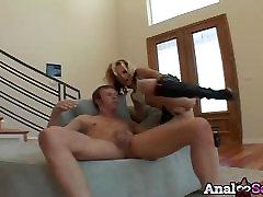 tranny seduces ladyy blonde Faye Runaway anal hung young man and facial