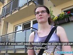 PublicAgent Glasses babe fucks in desi girl teacher