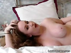 Chubby redhead teasing on webcam