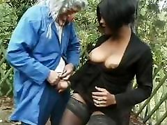 sexy ebony fucked outdoor