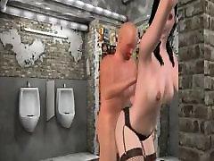 Girl fucked in bathroom in stockings