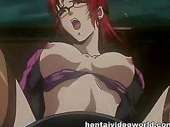 Anime pussy lecken für nette streckte gadget