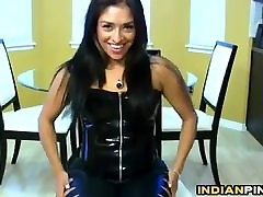 Indian Babe In Leather Pants