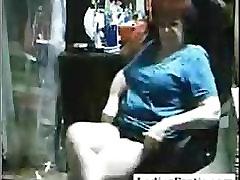 Chubby granny masturbate her pussy on webcam