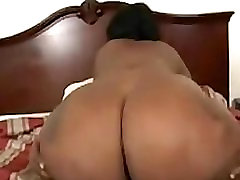 Fat Ebony Girl Loving That Black Cock