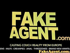 FakeAgent Blonde babymaker is desperate for male sperm in unusual Casting