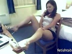 Crazy milfm mom pissing in her room on webcam