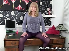 British granny with loulou squirt curly redhead compilation is a compulsive masturbator